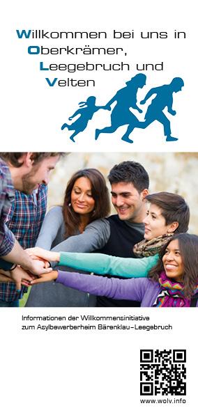 Faltblatt der Willkommensinitiative vom Oktober 2015