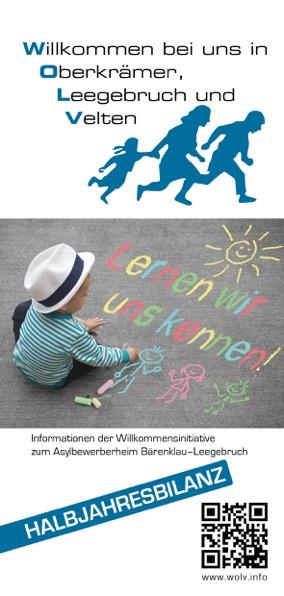 Faltblatt der Willkommensinitiative vom Mai 2016