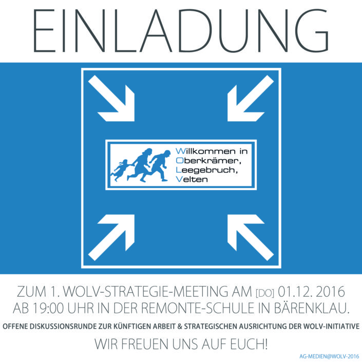 Einladung zum 1. Strategie-Meeting