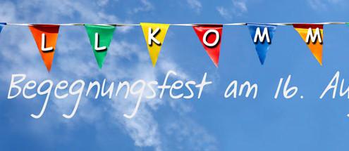 Willkommen zum Begegnungsfest am 16. August 2015