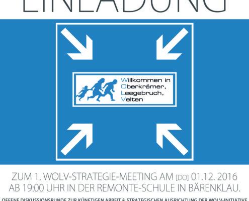 Einladung zum 1. Strategie-Meeting